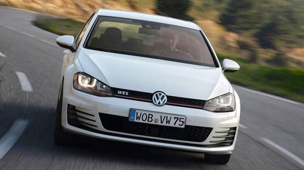 Der VW Golf GTI front