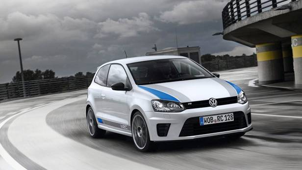 Der VW Polo R WRC front