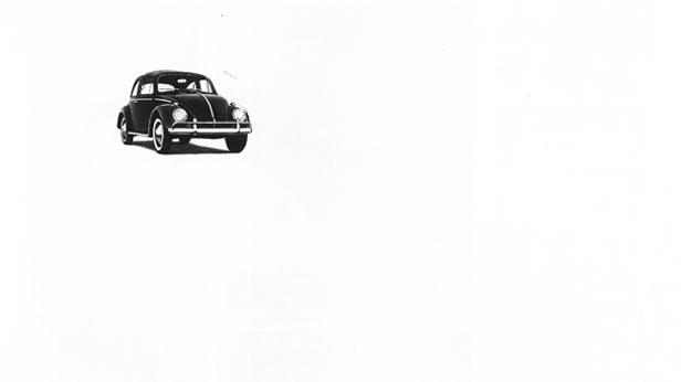 Volkswagen Beetle VW klassische Autowrebung Käfer
