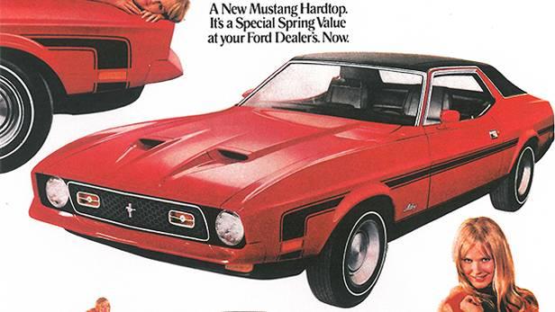1971 Ford Mustang klassische Autowerbung