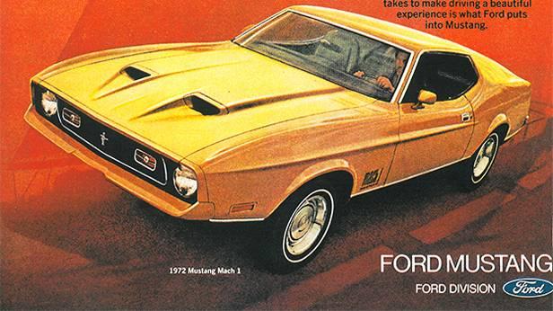 1972 - Ford Mustang Mach 1 klassische Autowerbung
