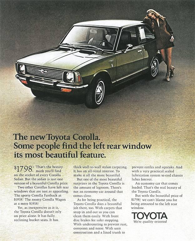 Toyota Celica klassische Autowerbung