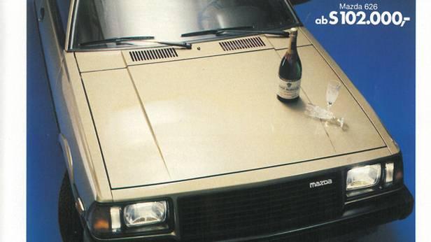 Mazda 626 klassische Autowerbung