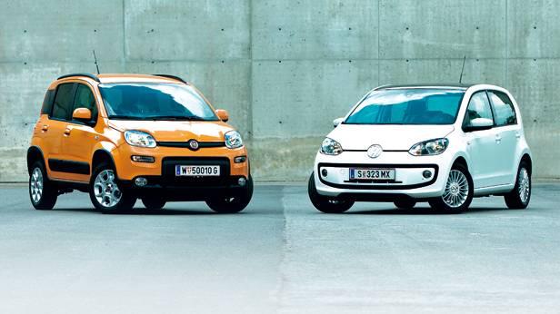 Vergleich: Fiat Panda Natural Power gegen VW eco up!