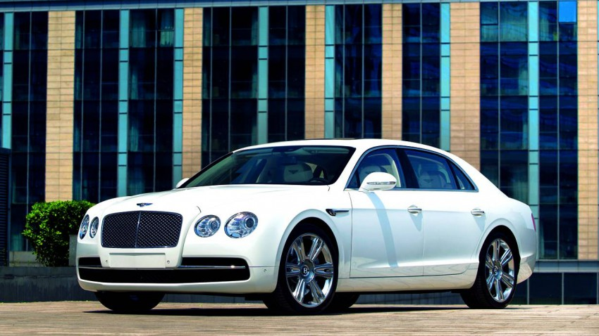 bentley flying spur v8 2014 weiß