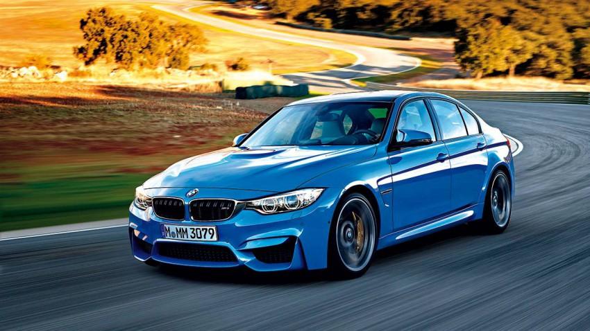 BMW M3 2014 blau vorne seite front