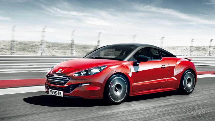 Peugeot RCZ R 2014 rot seite vorne front