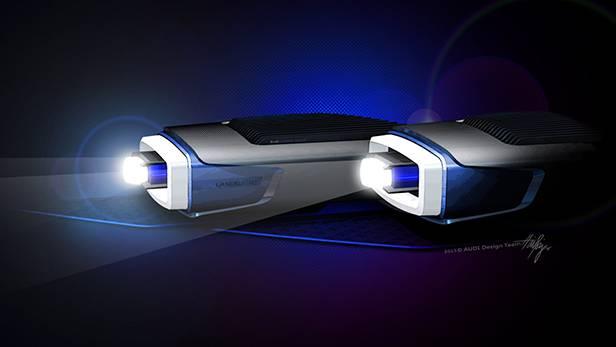 Eben noch Matrix-Led im A8, schon präsentiert Audi das LaserLight Concept.