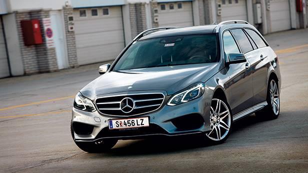 Mercedes-Benz E 400 T vorne front seite