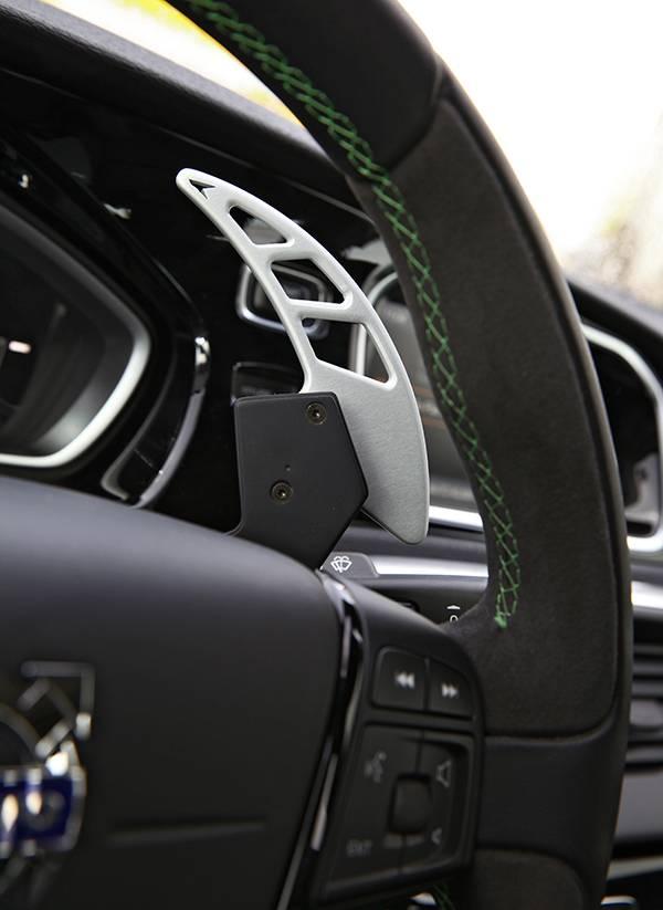 Volvo V40 T5 HPC Heico grün lenkrad schaltwippe