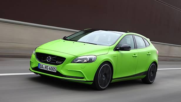 Volvo V40 T5 HPC Heico grün vorne front seite