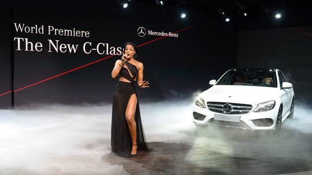 Die Präsentation der neuen C-Klasse auf der Detroit Autoshow 2014