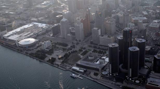 Luftaufnahme von Detroit