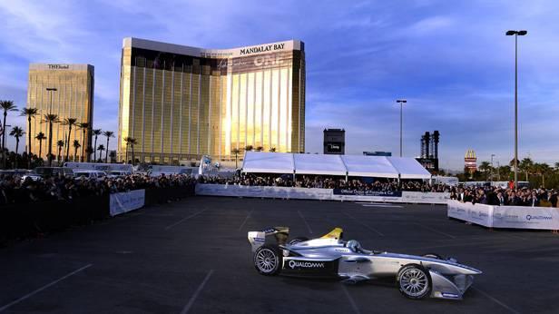 Das Formel-E-Rennauto bei der Premiere in Las Vegas