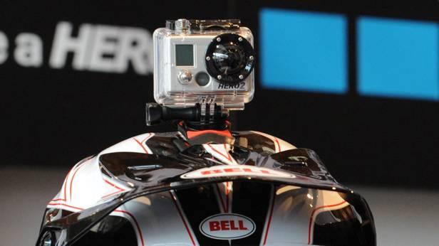 GoPro Kamera auf einem Helm