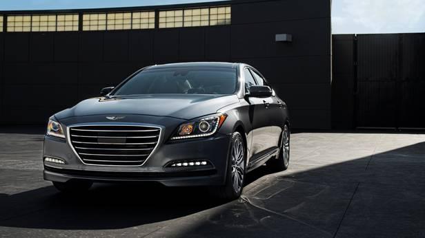 Hyundai Genesis 2014 grau statisch vorne links