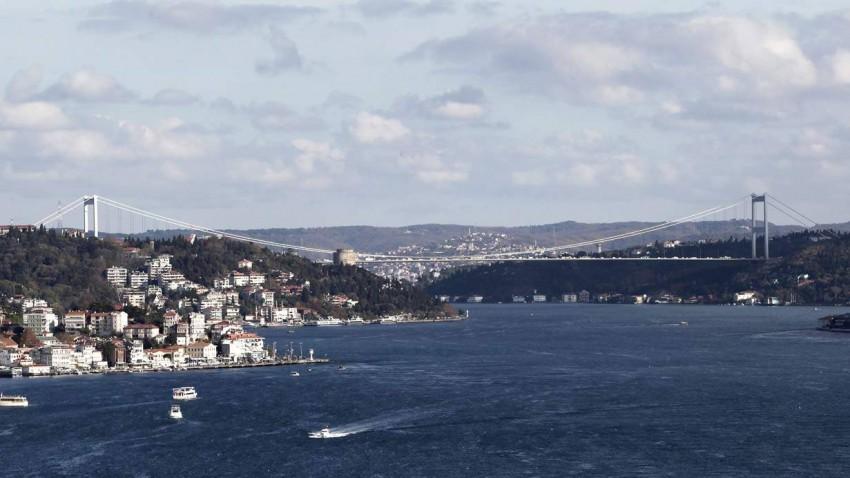 Die Fatih Sultan Mehmet Brücke in Istanbul