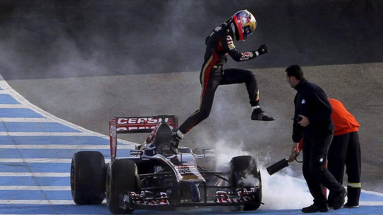 Jean-Eric Vergne von Toro Rosso bei den Tests in Jerez
