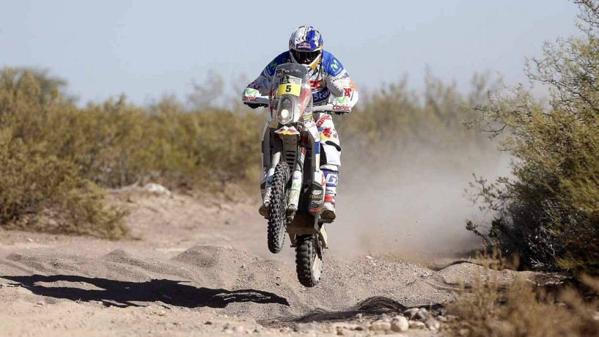 Francisco Lopez Contardo auf einem Motorrad von KTM bei der Rallye Dakar 2014