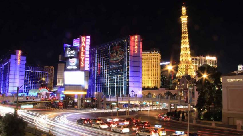 Blick auf Las Vegas bei Nacht
