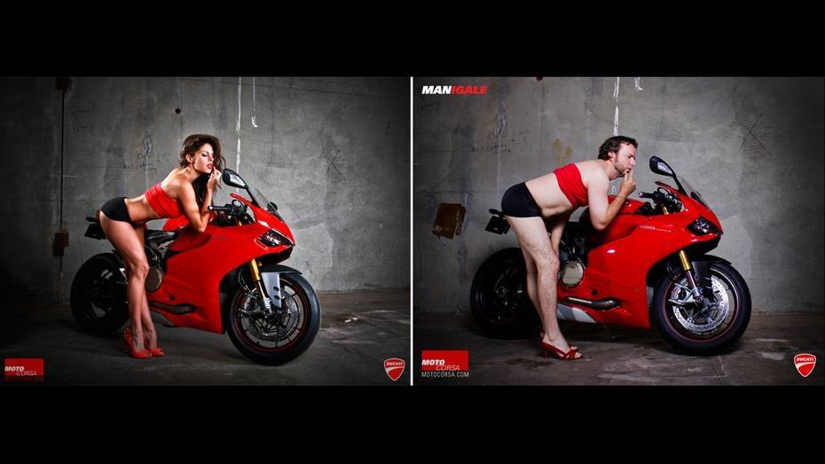 MANigale Ducati 1199 Panigale Kalender Mann Frau