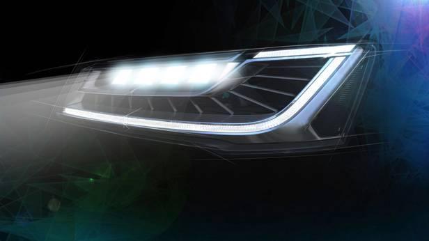 Die Matrix-LED-Scheinwerfer beim Audi A8