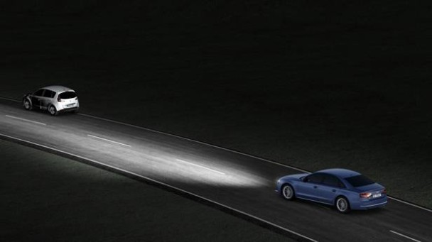 Grafik zum Audi A8 mit Matrix LED.