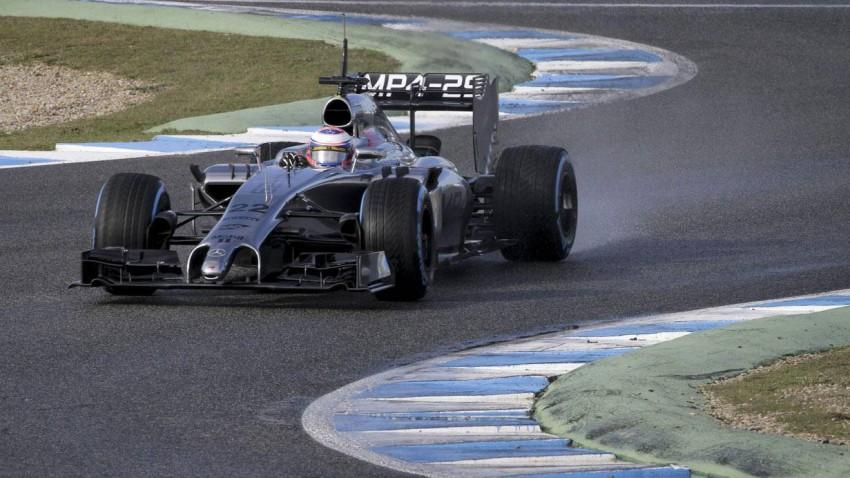 Jenson Button bei den Testfahrten in Jerez
