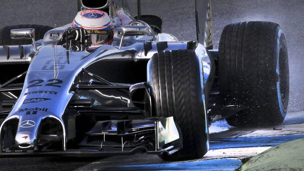 Der McLaren MP4-29 © Bild: EPA / Roman Rios / picturedesk.com