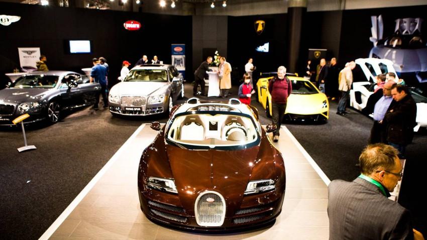 Bugatti Veyron 16.4 Grand sport vitesse vorne oben messe wien