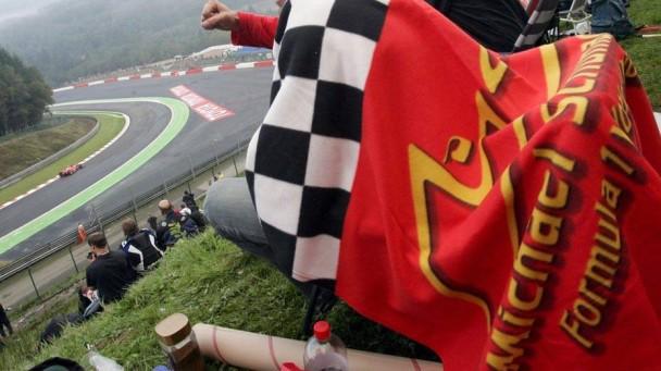 Ein Michael Schumacher Fan in Spa