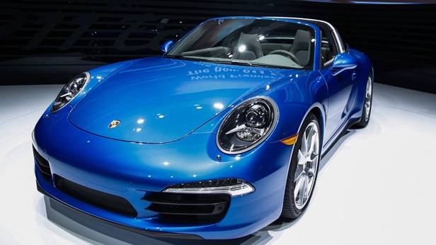 Der Porsche 911 Targa auf der Detroit Autoshow 2014
