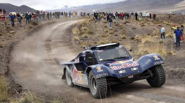 Carlos Sainz bei der Rallye Dakar 2014