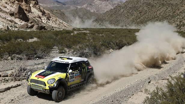 Nani Roma während der 3. Etappe der Dakar Rallye