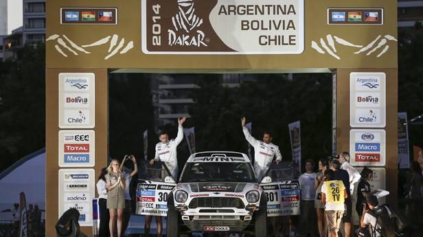 Offizielle Präsentation der Rallye Dakar 2014 in Rosario, Argentinien.  (c) EPA/ NICOLAS AGUILERA