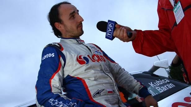 Robert Kubica während der Rallye Deutschland