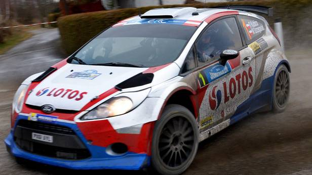 Robert Kubica im Ford bei der Rallye Freistadt