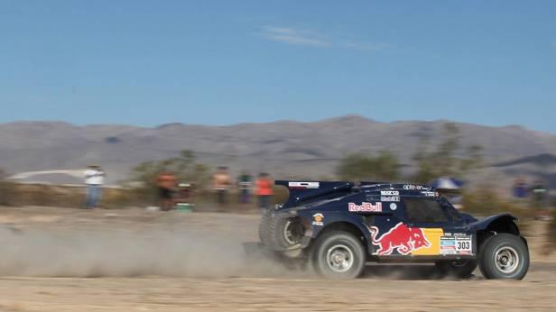 Carols Sainz während der 4. Etappe bei der Rallye Dakar