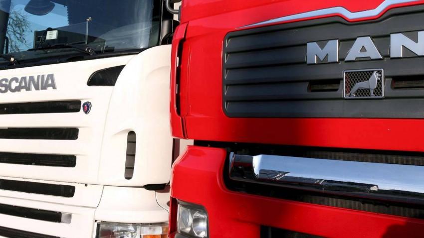 Lkw von Scania und MAN