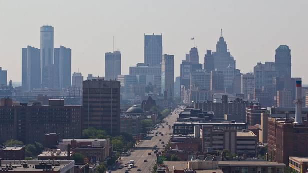 Die Skyline von Detroit