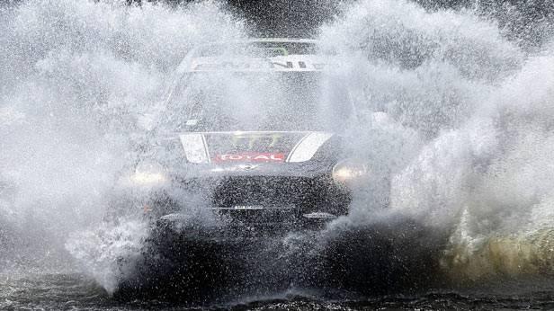 Stephane Peterhansel während der Rallye Dakar
