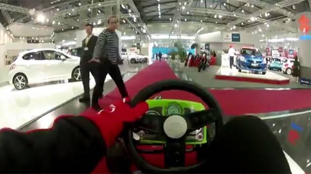 Vienna Autoshow 2014: Grand Prix von Wien - eine Rundfahrt mit dem Tretauto