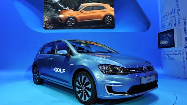 VW Der E-Golf auf der LA Autoshow