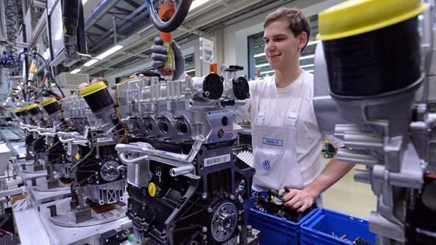 Das Motorenwerk von Volkswagen in Chemnitz