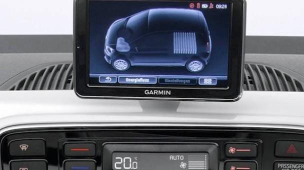 Das Display des VW E-up!