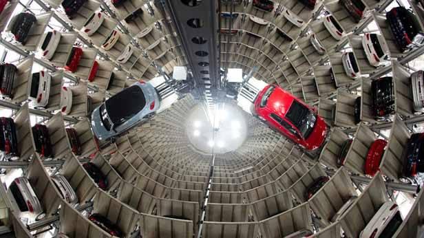 Neuwagen von Volkswagen in Wolfsburg