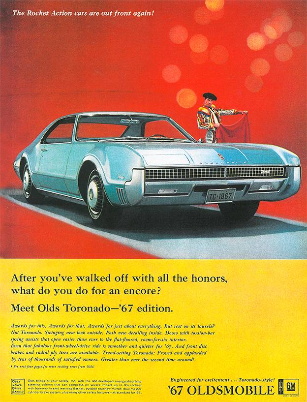 1967 Oldsmobile Tornado klassische Autowerbung