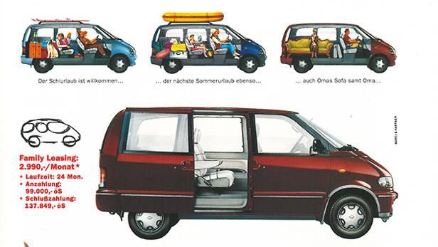 Nissan Serena 1993 klassische AUtowerbung