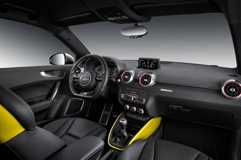 audi s1 2014 gelb cockpit innenraum sitze innen
