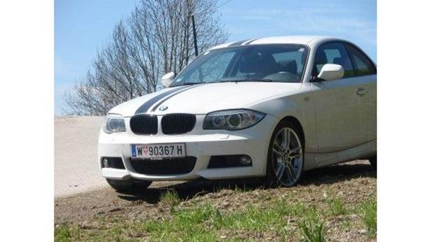 bmw 123d coupe weiß seite vorne front